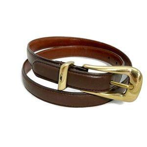 Coach Vintage Expresso Brown Leather Belt